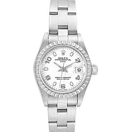Rolex Date White Dial Oyster Bracelet Steel Ladies Watch 69240