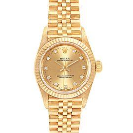 Rolex President No-Date Yellow Gold Diamond Ladies Watch 67198