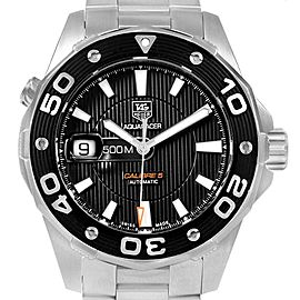 Tag Heuer Aquaracer Calibre 5 500M Steel Mens Watch WAJ2110 Box Card