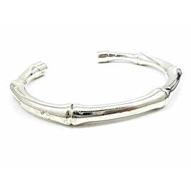 GUCCI Sterling Silver Bamboo Bangle Bracelet CHAT-152