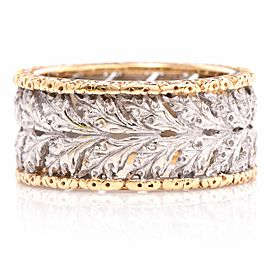 Buccellati Ramage 18K Yellow Gold Eternelle Band Ring Size 5.5