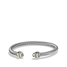 David Yurman Cable Classic Bracelet with Prasiolite and 14K Gold, 5mm