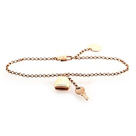 Hermes Kelly Clochette Chain Bracelet 18K Rose Gold Small