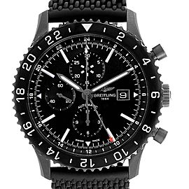 Breitling Chronoliner Blacksteel GMT Chrono Mens Watch M73390 Box Papers