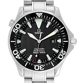 Omega Seamaster 41mm Black Dial Steel Mens Watch 2264.50.00 Box Card