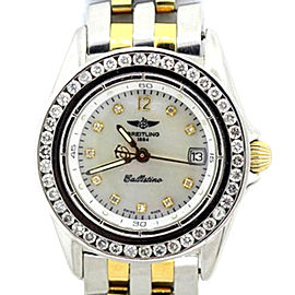 Breitling Callistino Stainless Steel & Yellow Gold Watch 28mm