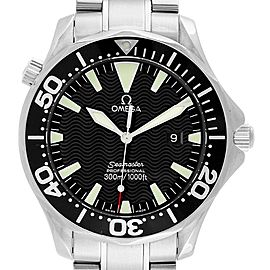 Omega Seamaster 41mm Black Wave Dial Steel Mens Watch 2264.50.00
