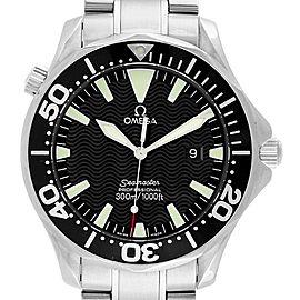 Omega Seamaster 41mm Black Wave Dial Steel Mens Watch 2264.50.00