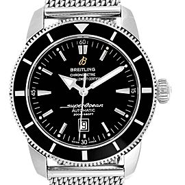 Breitling Superocean Heritage 42 Black Dial Watch A17320 Box Papers