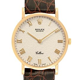 Rolex Cellini Classic Yellow Gold Anniversary Dial Mens Watch 5112