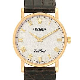 Rolex Cellini Classic Yellow Gold Anniversary Dial Watch 5115 Box