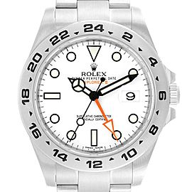Rolex Explorer II 42 White Dial Orange Hand Steel Mens Watch 216570