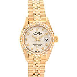 Rolex President Datejust Yellow Gold Anniversary Dial Ladies Watch 79258