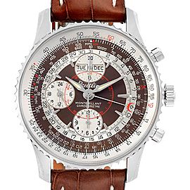 Breitling Navitimer Montbrillant Datora GMT Steel Watch A21330 Unworn