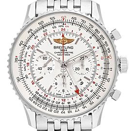 Breitling Navitimer GMT 48 Silver Dial Mens Watch AB0441 Box Papers