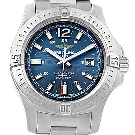 Breitling Colt Blue Dial Automatic Steel Mens Watch A17388 Box Papers