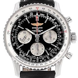 Breitling Navitimer 01 Black Strap Automatic Mens Watch AB0120