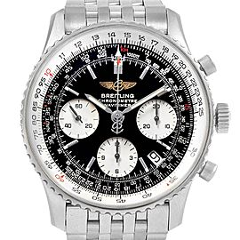 Breitling Navitimer Black Baton Dial Steel Mens Watch A23322 Box Papers