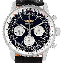 Breitling Navitimer 01 Black Dial Steel Mens Watch AB0120 Box Papers