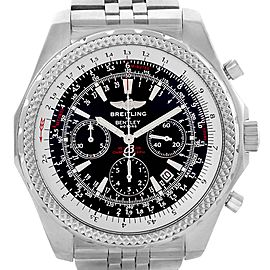 Breitling Bentley Motors Black Dial Chronograph Mens Watch A25362