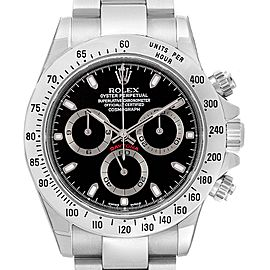 Rolex Daytona Black Dial Chronograph Steel Mens Watch 116520 Unworn
