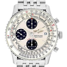 Breitling Navitimer Fighter Chronograph Silver Dial Steel Watch A13330
