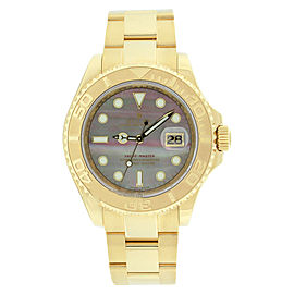 Rolex Yachtmaster 16628 18K Gold Factory Tahitian MOP Dial 40mm Mens Watch