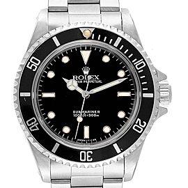 Rolex Submariner 40mm 2-Liner Automatic Steel Mens Watch 14060
