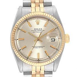 Rolex Datejust Steel Yellow Gold Vintage Mens Watch 1601