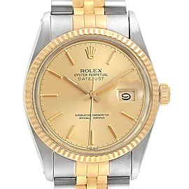 Rolex Datejust 36mm Steel Yellow Gold Vintage Mens Watch 16013