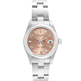 Rolex Date 26 Salmon Dial Oyster Bracelet Steel Ladies Watch 79160