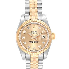 Rolex Datejust 26 Steel Yellow Gold Diamond Ladies Watch 179173