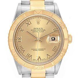 Rolex Datejust Turnograph Steel 18K Yellow Gold Mens Watch 16263