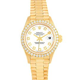 Rolex President 26 Yellow Gold Diamond Ladies Watch 79178 Box Papers