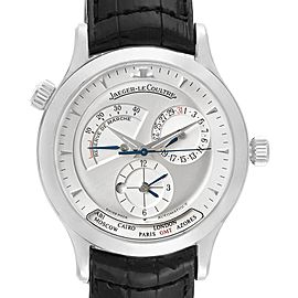 Jaeger Lecoultre Master Geographic Steel Mens Watch 142.8.92