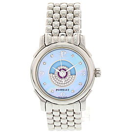 Perrelet Lady Temptest Stainless Steel Automatic With Diamonds Ladies Watch