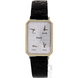 Piaget 15402 18K White Gold World Time Men's Watch