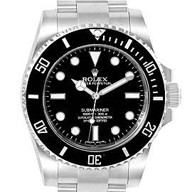 Rolex Submariner Black Dial Ceramic Bezel Steel Mens Watch 114060