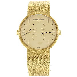 Vacheron Constantin 455514 Dual Time 18K Yellow Gold Men's Watch
