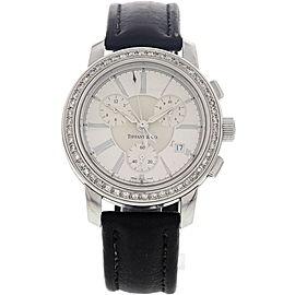 Tiffany & Co. Chronograph Stainless Steel w/ Diamonds Watch