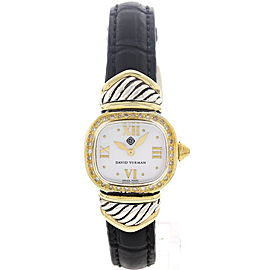 David Yurman 14K Yellow Gold & Stainless Steel Diamonds Womens Watch