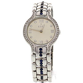Ebel Beluga E9157421 Stainless Steel with Diamonds & Sapphires Womens Watch