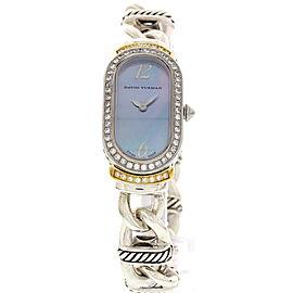 David Yurman T408-MSS Silver & SS w/ Diamonds Womens Watch