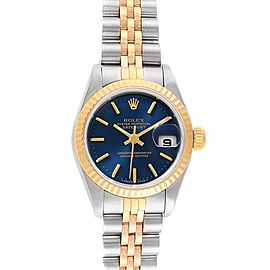 Rolex Datejust 26 Steel Yellow Gold Blue Dial Ladies Watch 69173