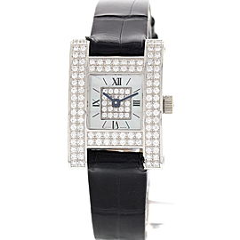 Chopard 493 1 A Ladys Fine 18K White Gold Diamond Womens Watch