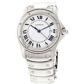 Cartier 15611 Santos Ronde Date Stainless Steel Watch