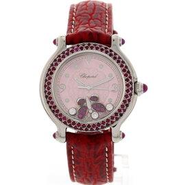 Chopard 27/8935-42 Happy Sport Ruby Butterfly Diamond Womens Watch