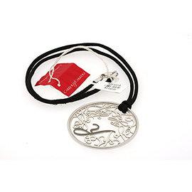 Carrera Y Carrera 18K White Gold Monogram Circle Silk Cord Pendant