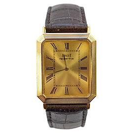 Piaget 18K Yellow Gold 24mm Mens Watch