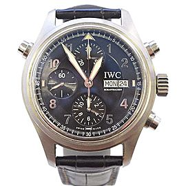 IWC Doppelchronograph 3713 Stainless Steel 42mm Mens Watch